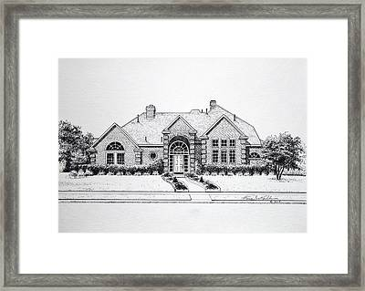 Texas Home 3 Framed Print by Hanne Lore Koehler