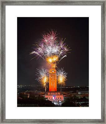 Texas Images - The University Of Texas Graduation 2014 3 Framed Print by Rob Greebon