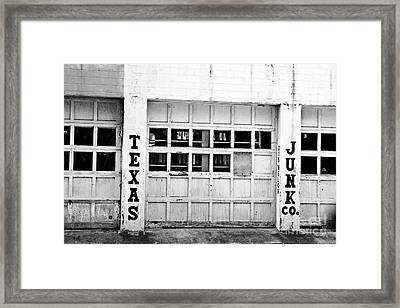 Texas Junk Co. Framed Print by Scott Pellegrin
