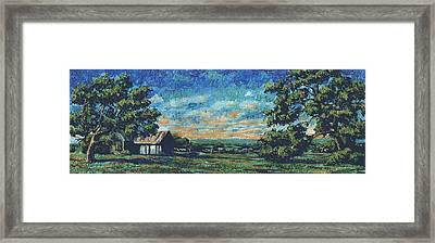 Texas Landscape Miniature Framed Print by Dan Terry