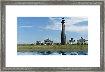 Framed Print featuring the photograph Texas Lighthouse by Cecil Fuselier