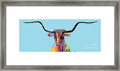 Texas Longhorn Framed Print by Eloise Schneider