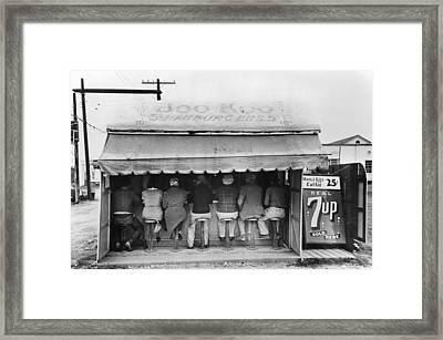 Texas Luncheonette, 1939 Framed Print by Granger