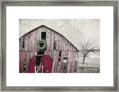 Texas Manger Framed Print by Elena Nosyreva