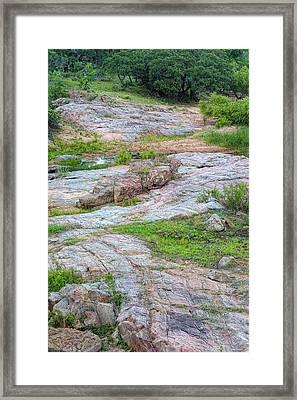 Texas Marble Landscape Framed Print