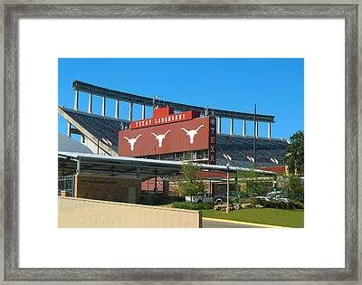 Texas Memorial Stadium - U T Austin Longhorns Framed Print