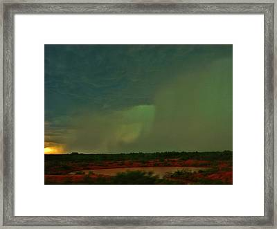 Framed Print featuring the photograph Texas Microburst by Ed Sweeney
