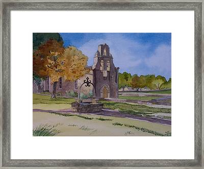 Texas Mission Framed Print by Terry Holliday