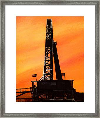 Texas Oil Rig Framed Print