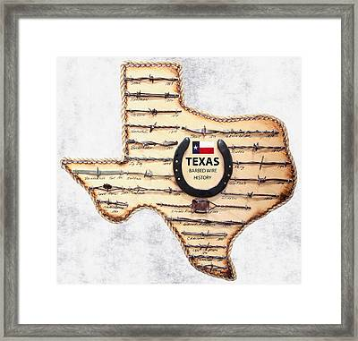 Texas Old-west Barbed Wire Framed Print by Daniel Hagerman