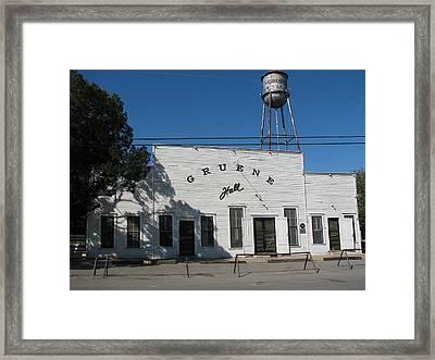 Texas Oldest Dance Hall Framed Print