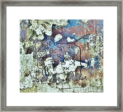 Texas Petroglyph Framed Print by Larry Campbell