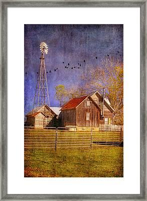 Texas Ranch Framed Print by Joan Bertucci