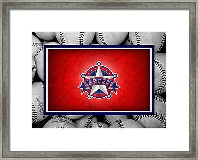 Texas Rangers Framed Print by Joe Hamilton