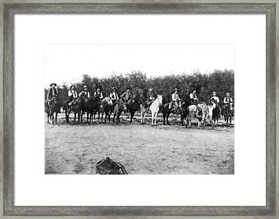 Texas Rangers Framed Print by Underwood Archives