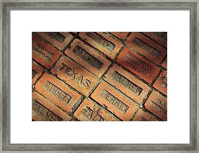 Texas Red Brick Framed Print