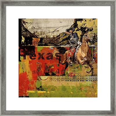 Texas Rodeo Framed Print by Corporate Art Task Force