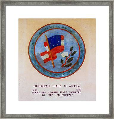 Texas - Seventh State Admitted To The Confederacy Framed Print by Mountain Dreams
