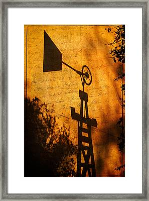 Texas Shadows Framed Print