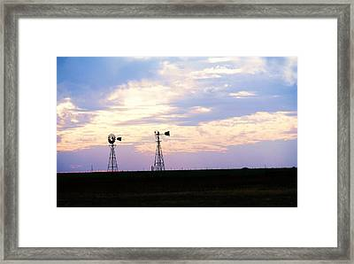 Texas Sky Framed Print
