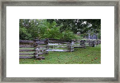 Texas Split Rain Fence Framed Print