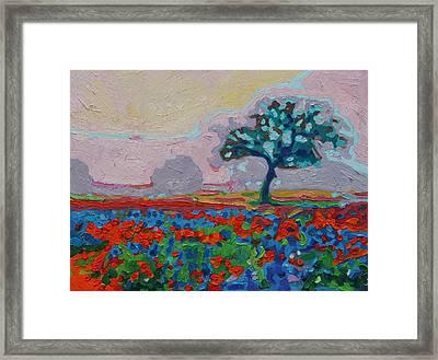 Texas Spring Flowers Oil Painting Bertram Poole Framed Print by Thomas Bertram POOLE