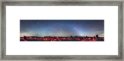 Texas Star Party Panorama At Night Framed Print by Alan Dyer