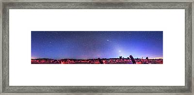 Texas Star Party Panorma At Twilight Framed Print