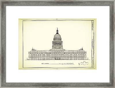 Texas State Capitol Architectural Design Framed Print