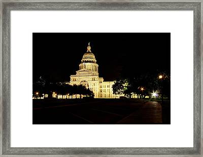 Framed Print featuring the photograph Texas State Capitol by Dave Files