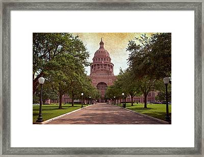 Texas State Capitol IIi Framed Print by Joan Carroll