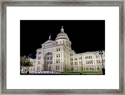 Framed Print featuring the photograph Texas State Capitol by Tim Stanley