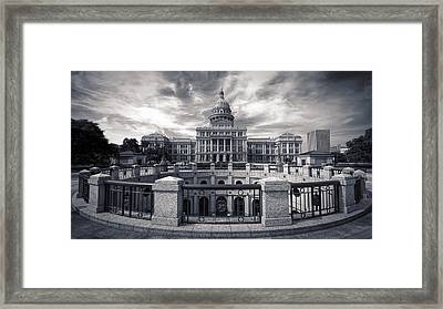 Texas State Capitol V Framed Print by Joan Carroll