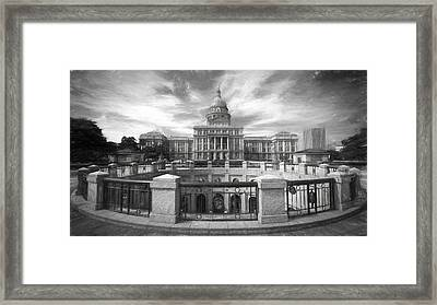 Texas State Capitol Vi Framed Print by Joan Carroll