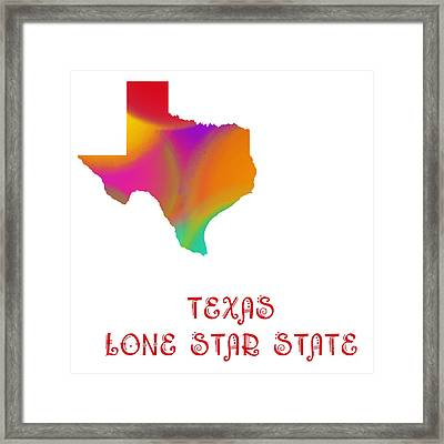 Texas State Map Collection 2 Framed Print by Andee Design