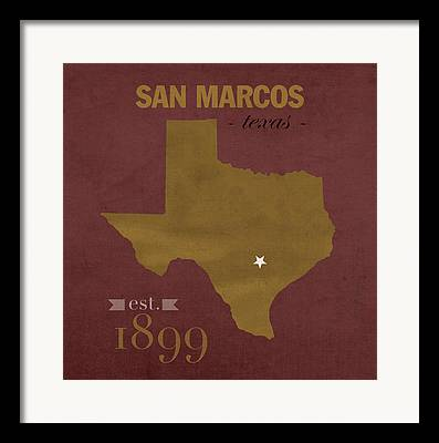 Texas State Bobcats Framed Prints