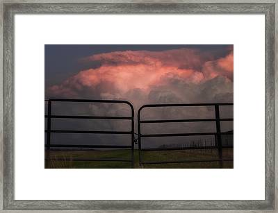 Texas Storms Framed Print by Kimberly Danner