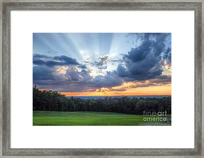 Texas Sunset As Seen From Louisiana Framed Print