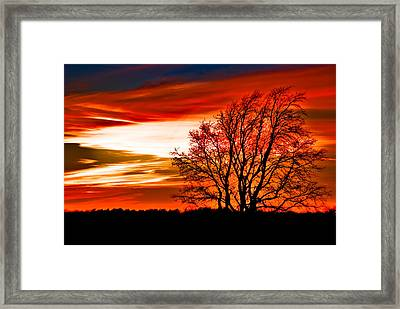 Texas Sunset Framed Print