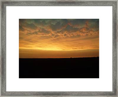 Framed Print featuring the photograph Texas Sunset by Ed Sweeney