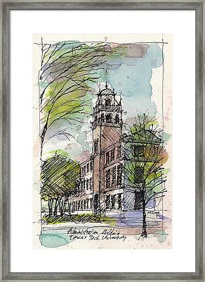 Texas Tech Administration Building Framed Print by Tim Oliver
