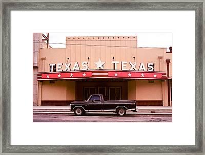 Texas Texas Framed Print by Will Gunadi
