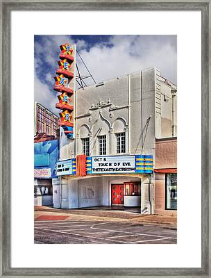 Texas Theater Dallas Framed Print