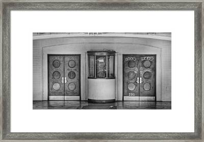 Texas Theater Ticket Booth Framed Print