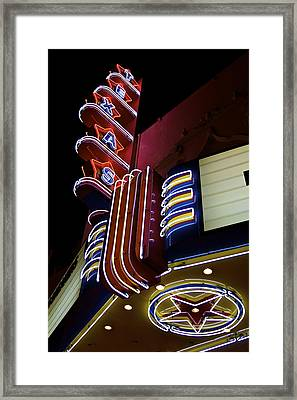 Framed Print featuring the photograph Texas Theatre Marquee by John Babis