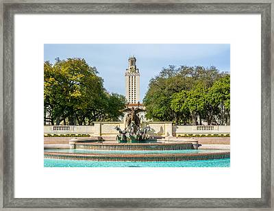 Texas Tower From Littlefield Fountain Framed Print