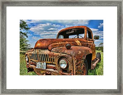 Texas Truck Framed Print by Daniel Sheldon