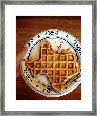Texas Waffle Framed Print