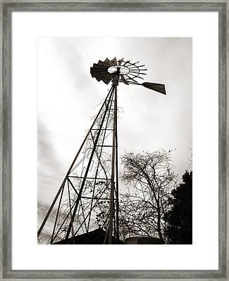 Texas Windmill Framed Print