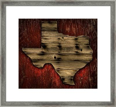 Texas Wood Framed Print